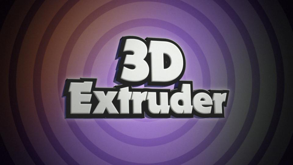 3D Extruder - Script,  Plugin For After Effect