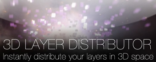 3D Layer Distributor - Script, Plugin For After Effect
