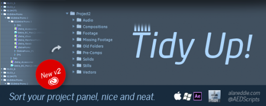 TidyUp - Script, Plugin For After Effect