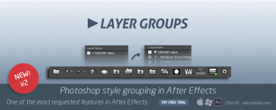 Layer Groups 2 - Script, Plugin For After Effect