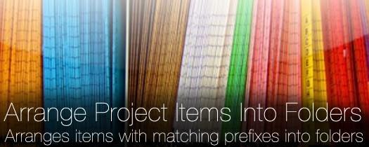 Arrange Project Items Into Folders  - Script, Plugin For After Effect