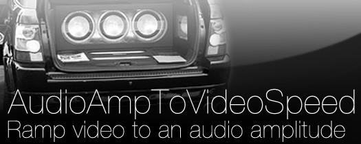 AudioAmpToVideoSpeed - Script, Plugin For After Effect
