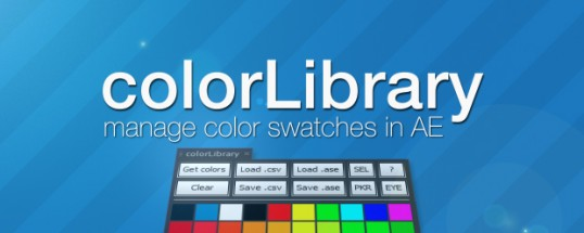 colorLibrary - Script, Plugin For After Effect