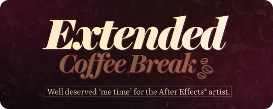 Extended Coffee Break - Script, Plugin For After Effect For Mac