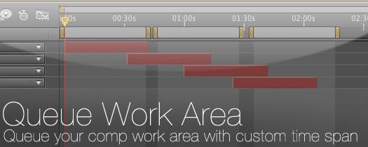 Queue Work Area - Script, Plugin For After Effect