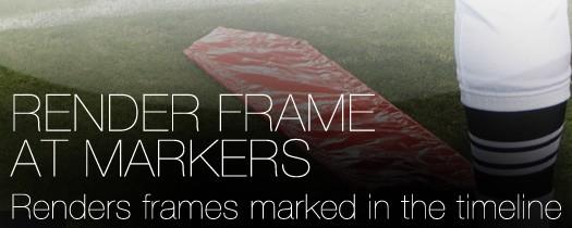 Render Frame at Markers - Script, Plugin For After Effect