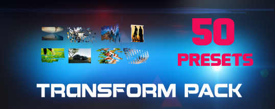 Transform Pack for Transformer - Script, Plugin For After Effect