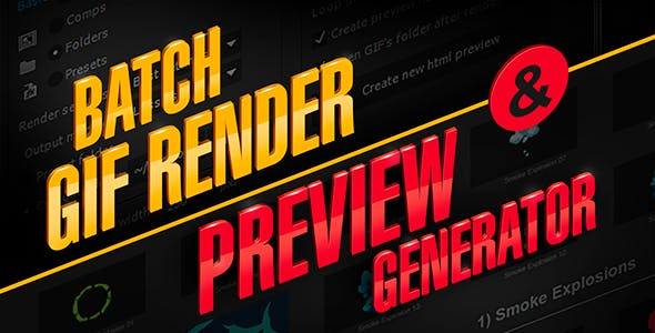 aw_PreviewGenerator 14081377 - Script, Plugin For After Effect