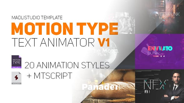Motion Type - Text Animator 20602837 - After Effect Template