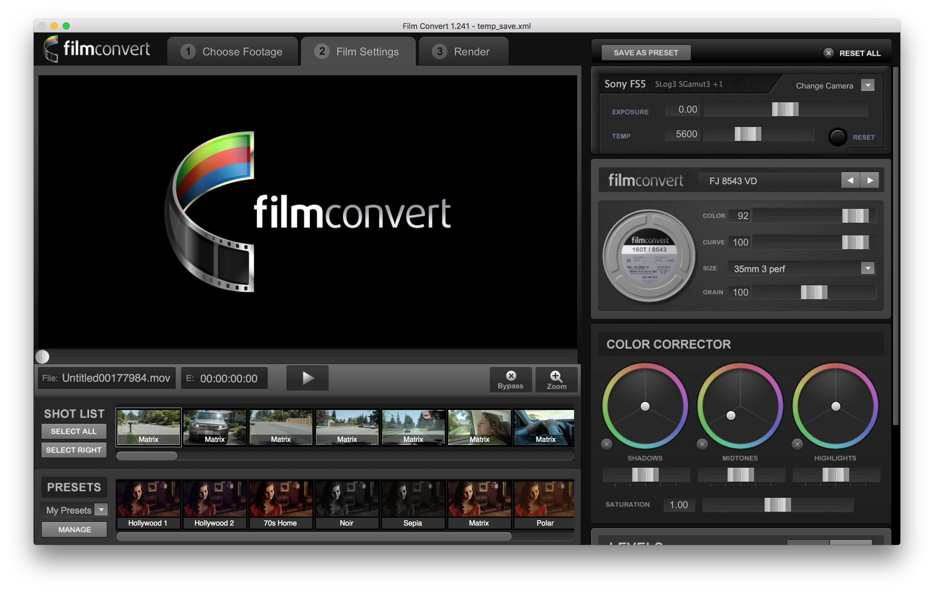 FilmConvert Pro - Script, Plugin For After Effect For Mac