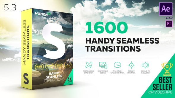 Motion Bro Handy Seamless Transitions 18967340 - Script, Plugin For After Effect