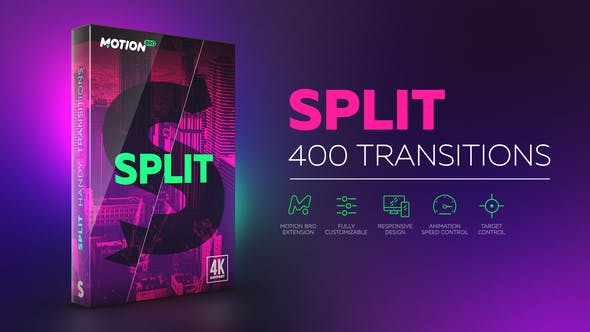 Motion Bro Split Handy Transitions 21617948 - Script, Plugin For After Effect