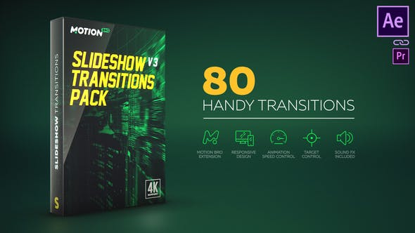 Motion Bro Slideshow Transitions Pack 17811440 - Script, Plugin For After Effect