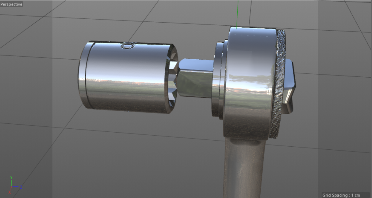 Socket Wrench - Industrial Objects Model 3D Download For Free