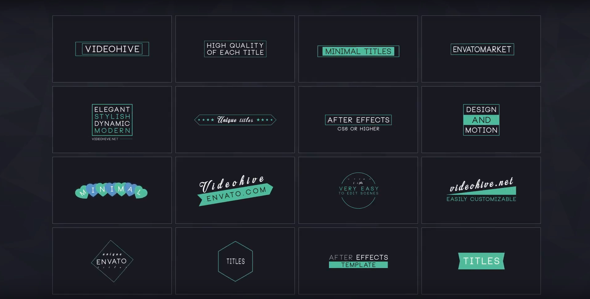 16 Minimal Titles - After Effect Template