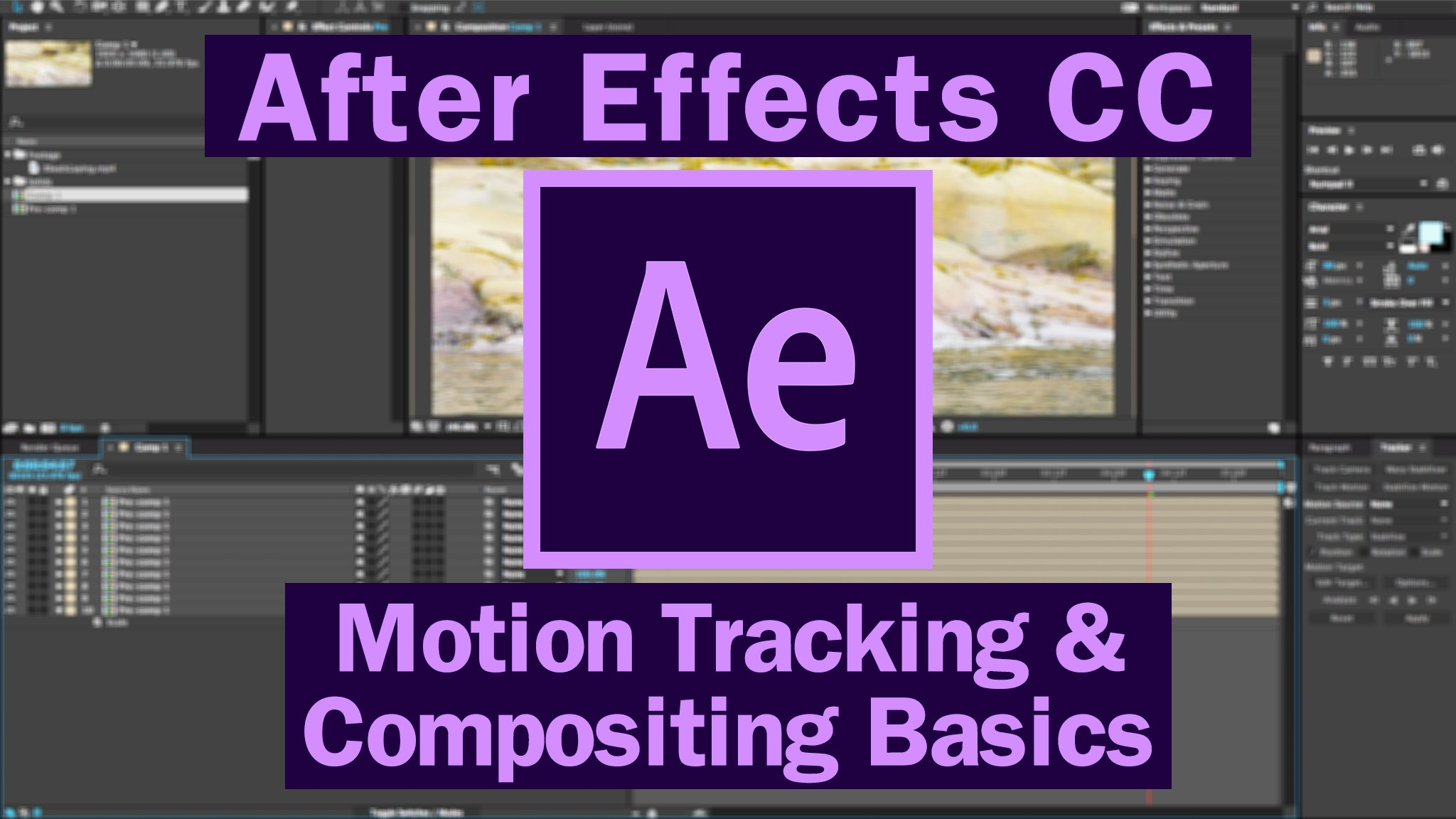 Motion Tracking & Compositing Basics - After Effect Tutorials