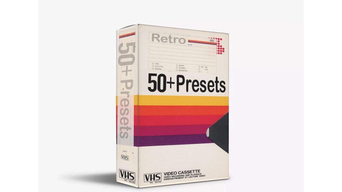 640 Studio - 50+ VHS Presets Pack - Footage