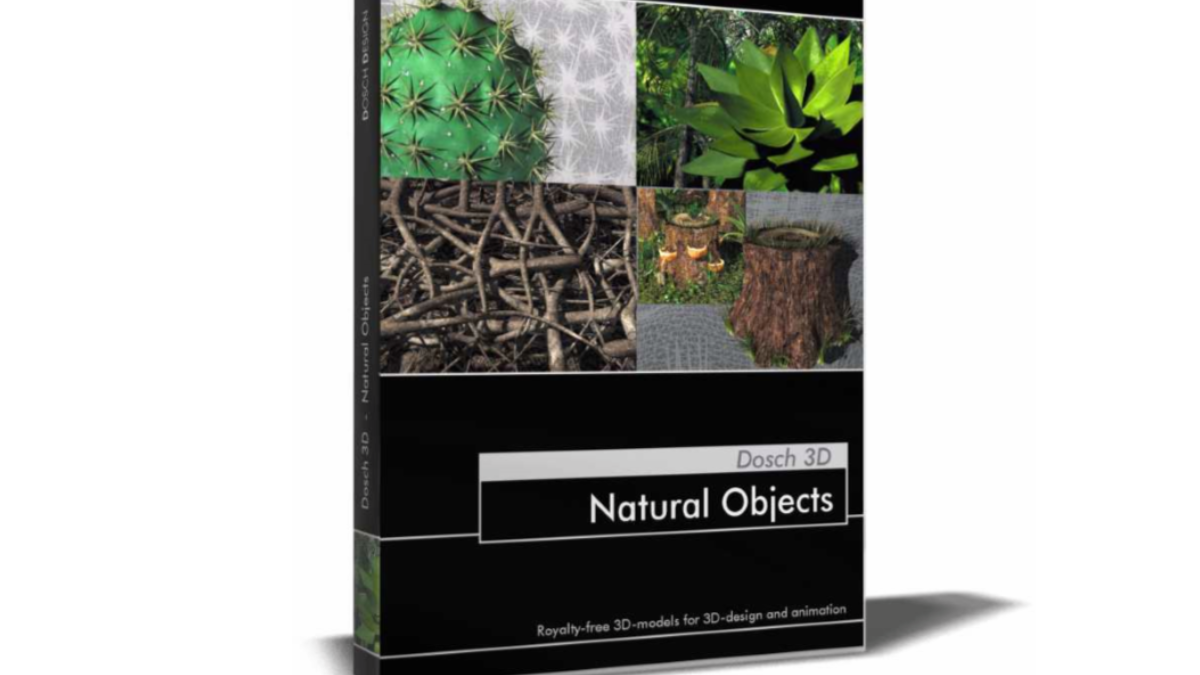 DOSCH 3D: Natural Objects V2- Model 3D Download For Free