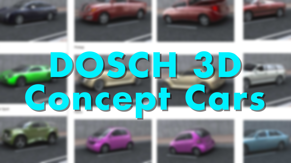 DOSCH 3D: Concept Cars - Model 3D Download For Free