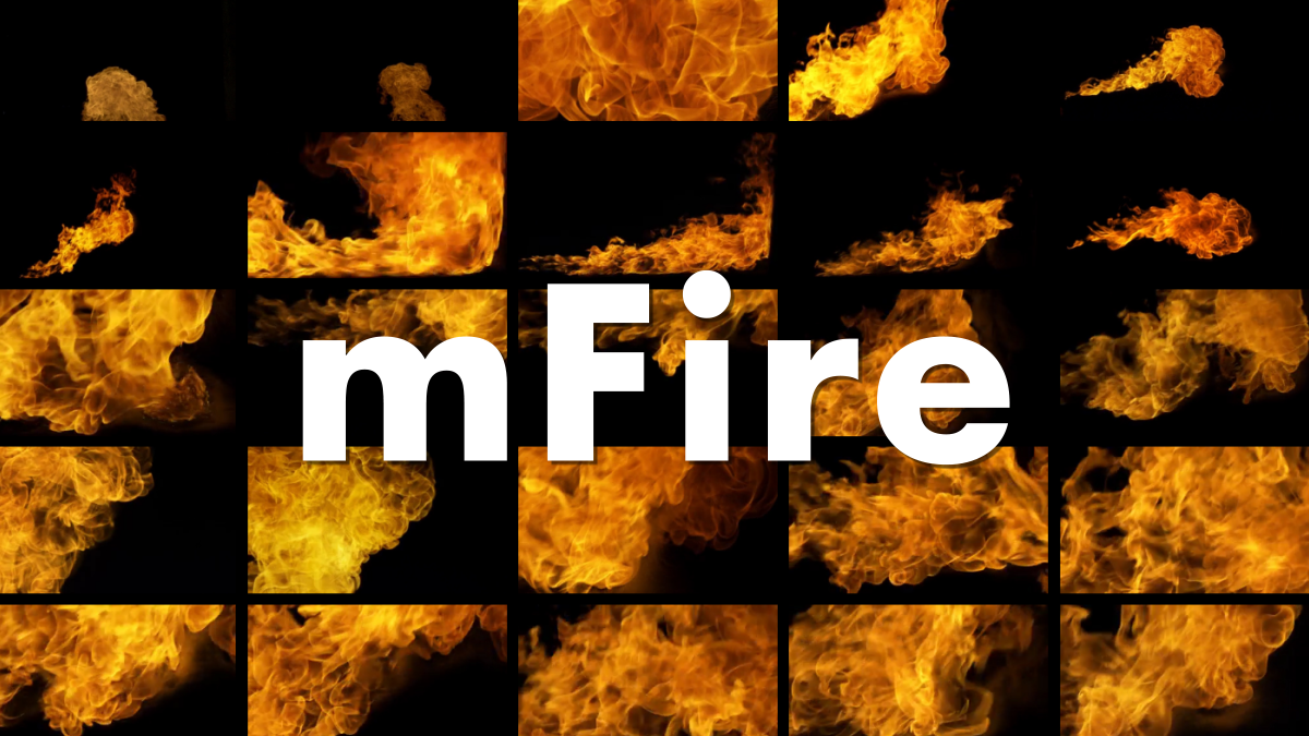 MotionVFX - mFire - 150 Organic 2K Fire Elements - Footage