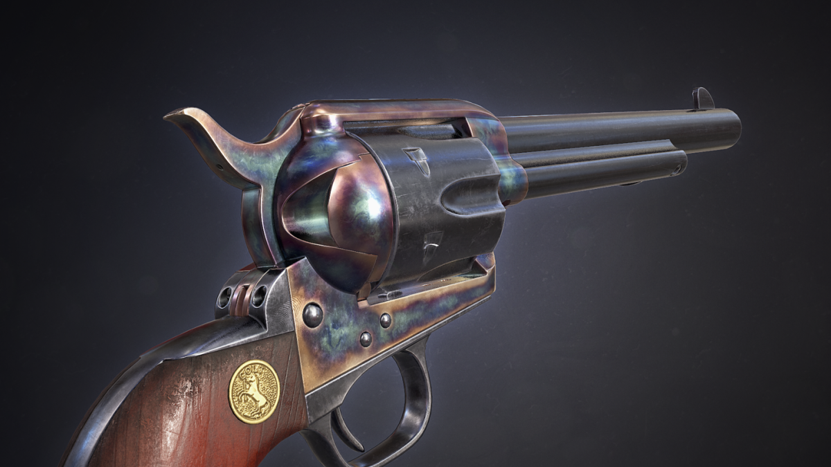 Colt Single Action Army - Peacemaker - Model 3D Download For Free