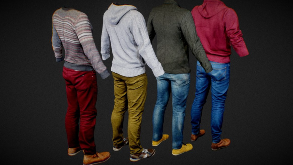 Male Clothing Collection 1 - Model 3D Download For Free