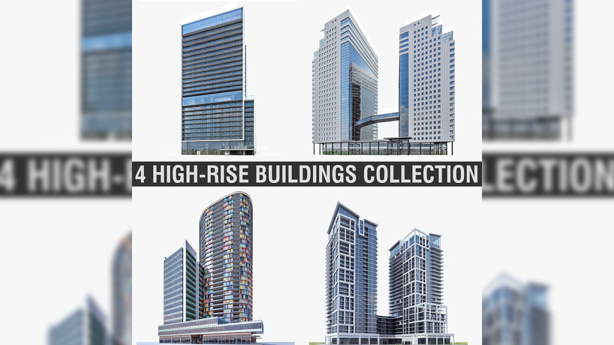 High-rise Buildings Collection 01 - Model 3D Download For Free