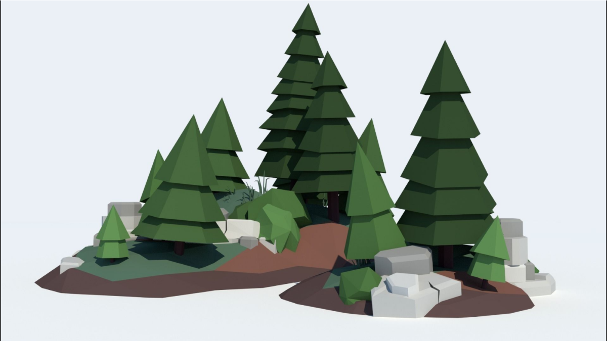 Low Poly Tree Pack Low-poly 3D model - Model 3D Download For Free