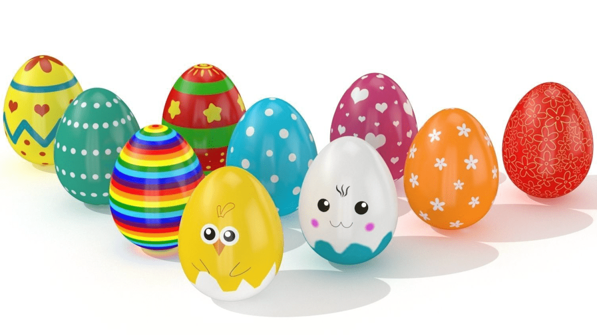 Easter eggs 10 Styles VR / AR / low-poly - Model 3D Download For Free