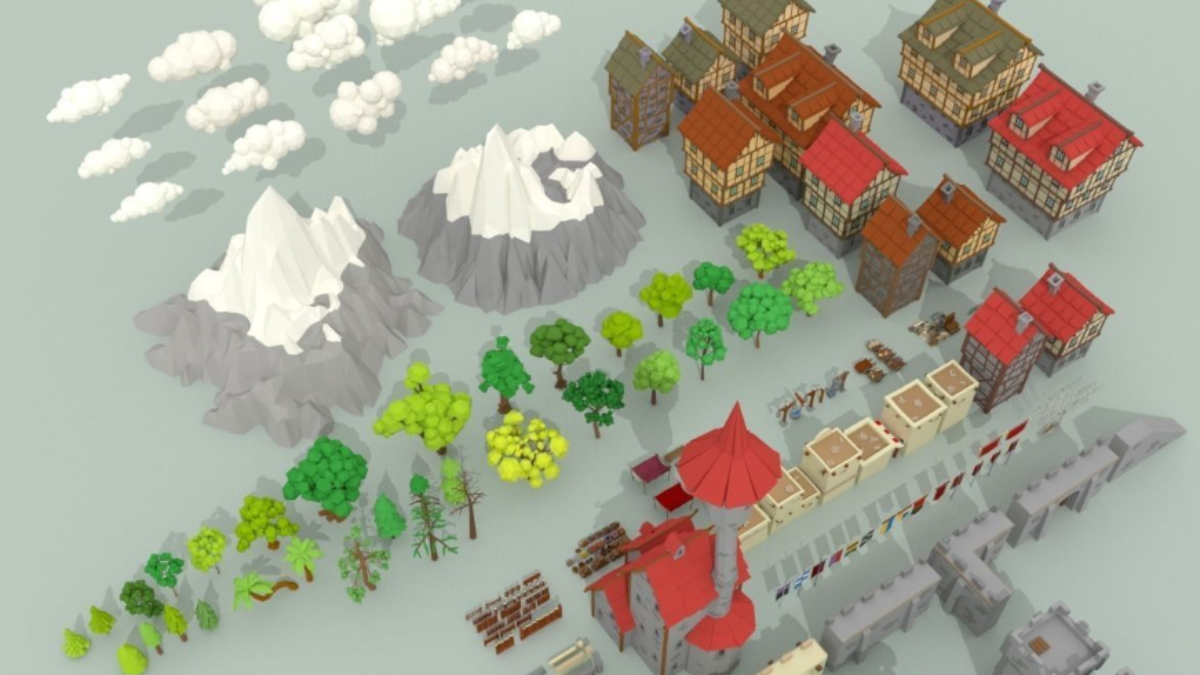 Medieval City Pack - Model 3D Download For Free