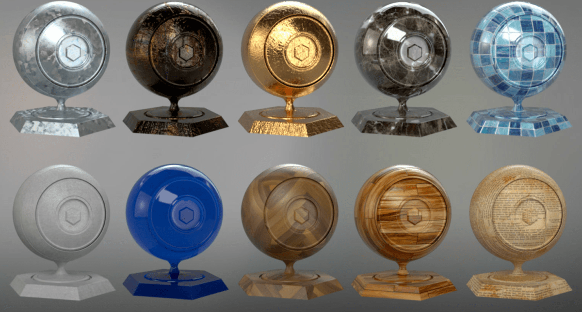 Redshift Material Pack For 3dsmax Vol1 - Material Download For Free