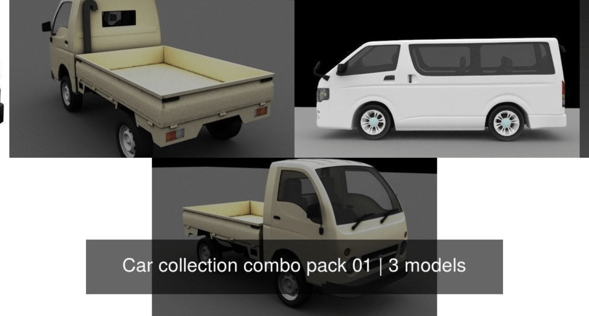 Car collection combo pack 01 - Model 3D Download For Free