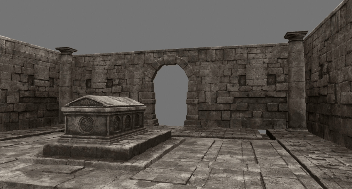 Ruin Set 1 Low-Poly 3d Model - Model 3D Download For Free