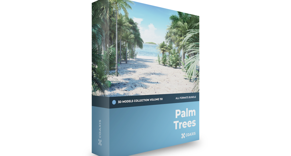 Palm Trees 3D Models Collection – Volume 110 - Model 3D Download For Free