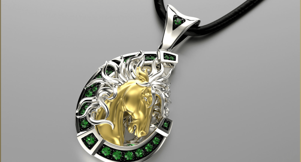 Jewelry Pendant Wild Horse 0179 - Model 3d Download For Free