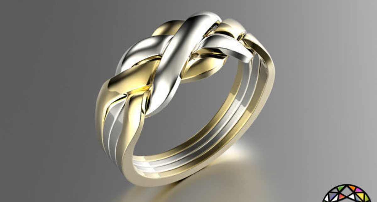 Puzzle Ring 0071 - Model 3D Download For Free