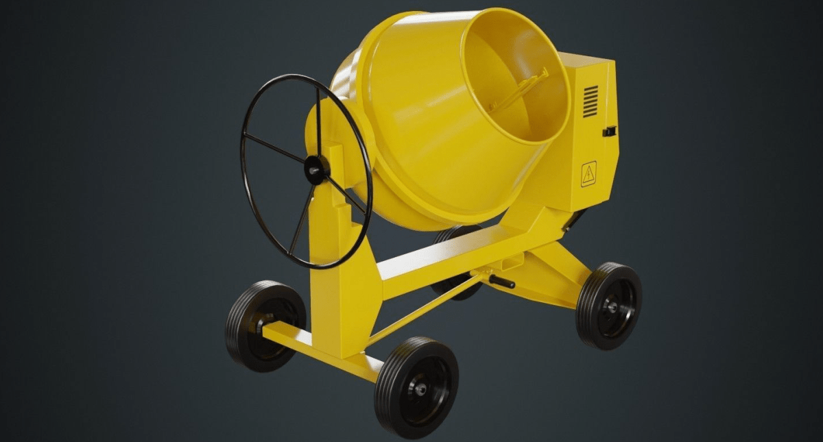 Concrete Mixer 1A Low-poly - Model 3D Download For Free