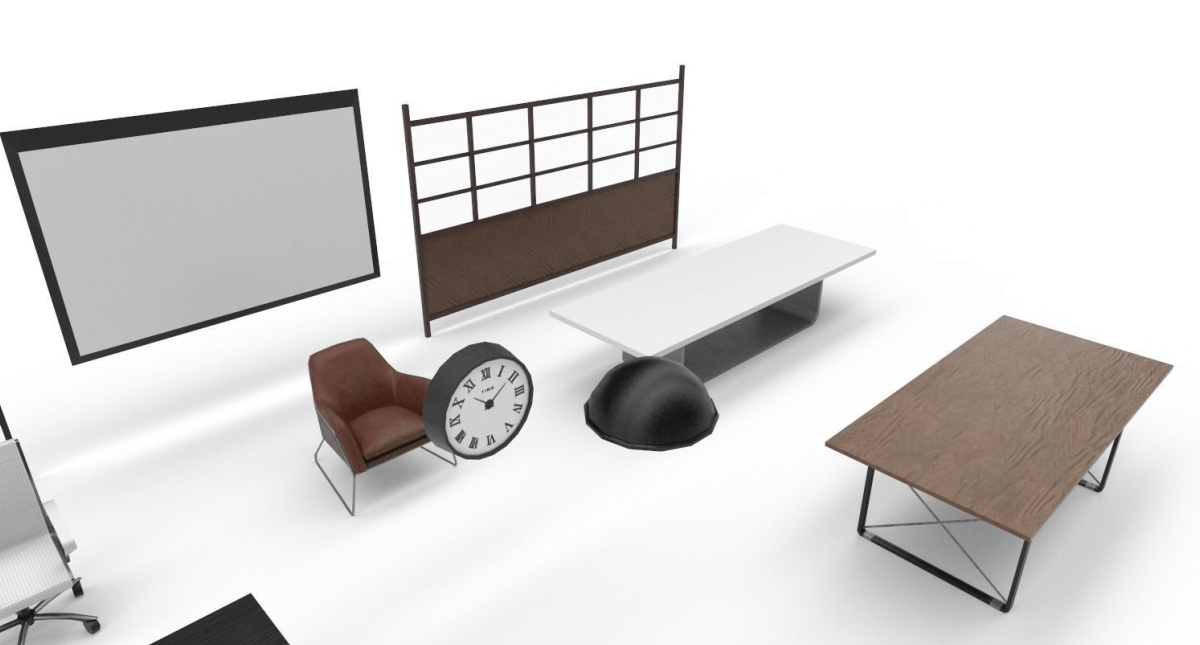 Interior Collection Pack Low-poly - Model 3D Download For Free