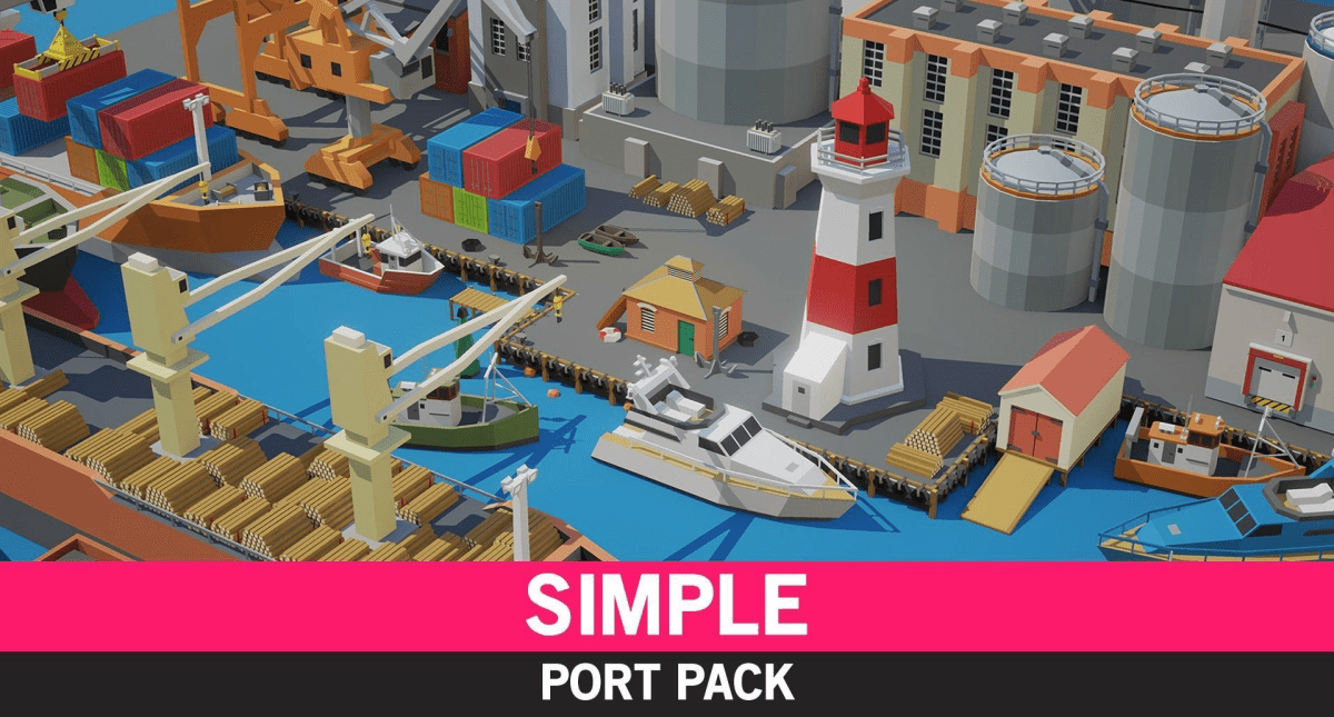 Simple Port - Cartoon Assets - Model 3D Download For Free