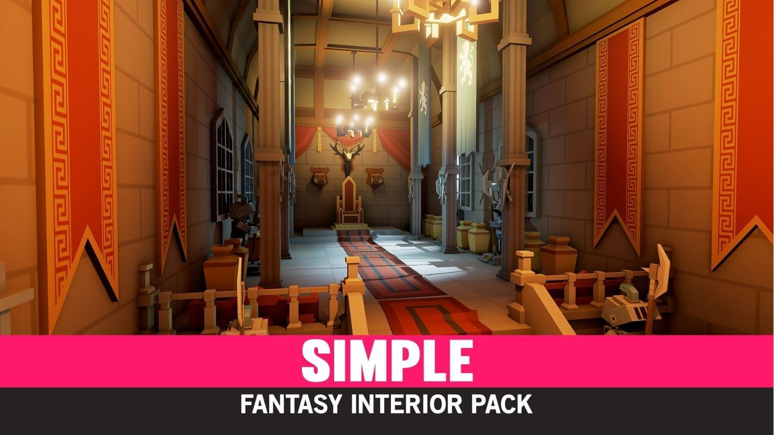 Simple Fantasy Interiors - Cartoon Assets - Model 3D Download For Free