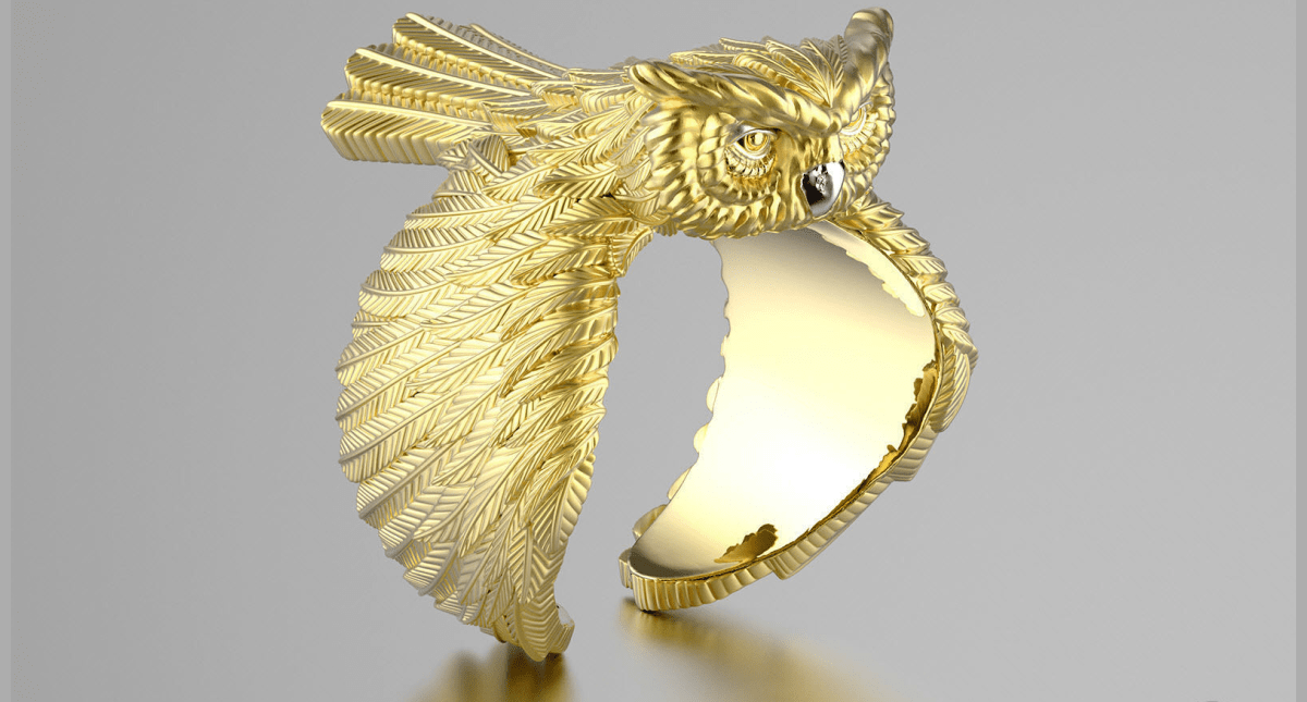 Owl fashion ring - Model 3D Download For Free