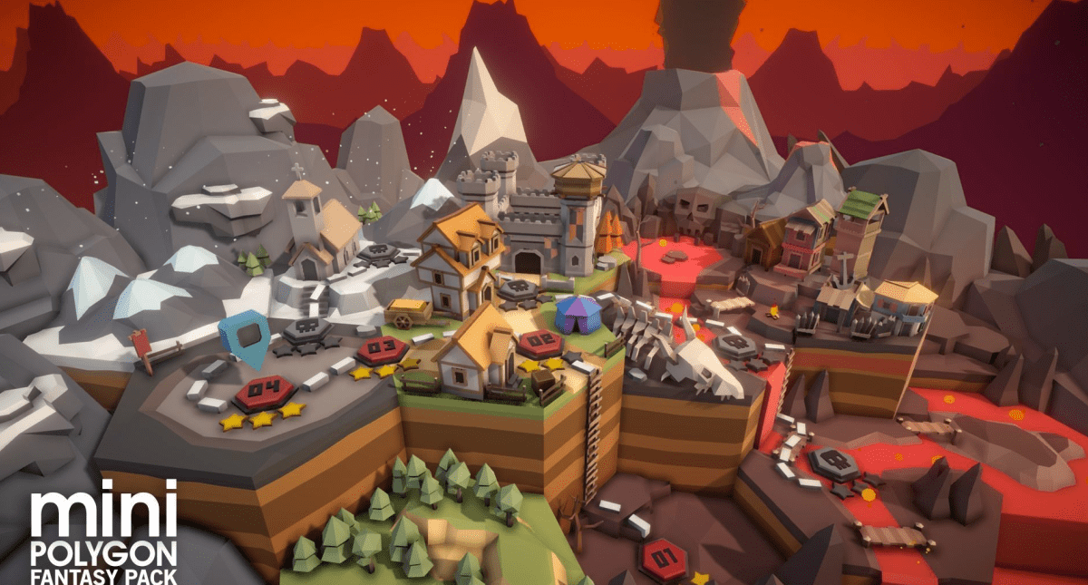 POLYGON MINI - Fantasy Pack Low-poly - Model 3D Download For Free