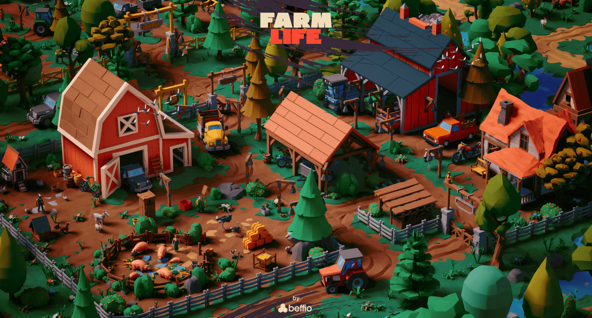 Farm Life - Stylized LowPoly Art Package - Model 3D Download For Free