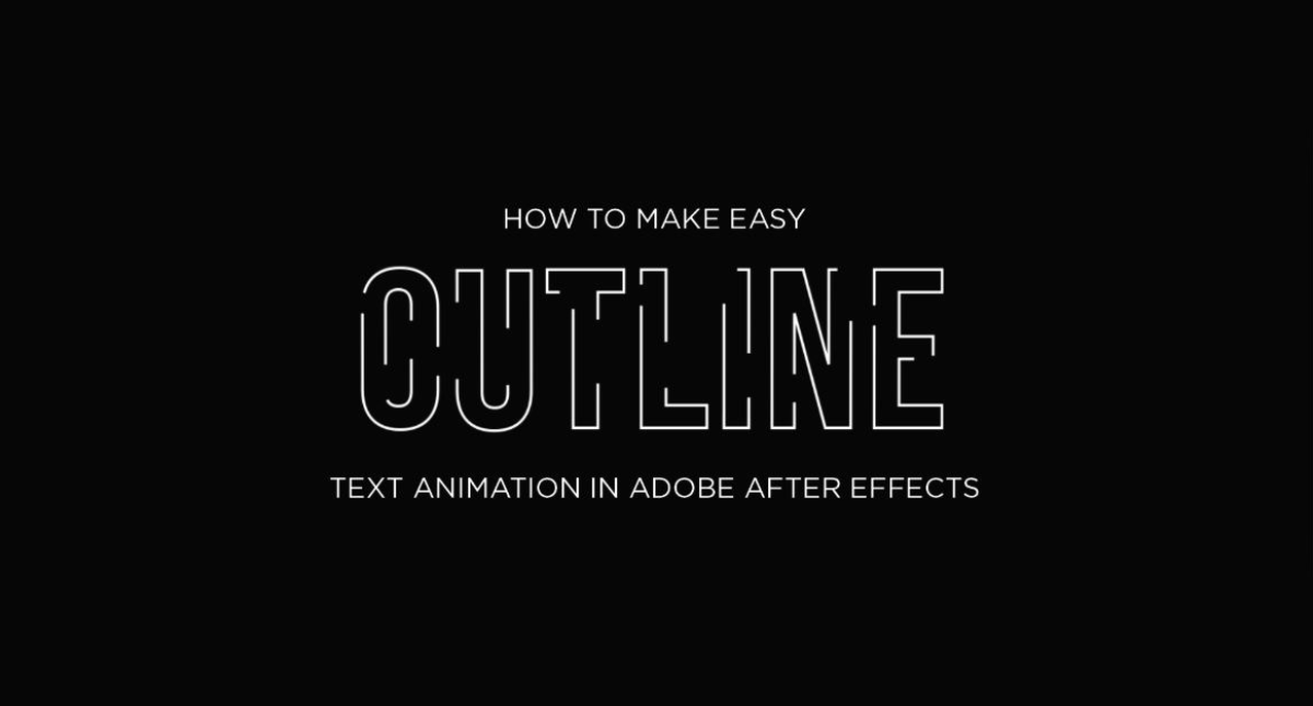 Easy Outline Animation Effect in Adobe After Effects using Trim Paths - After Effect Tutorials