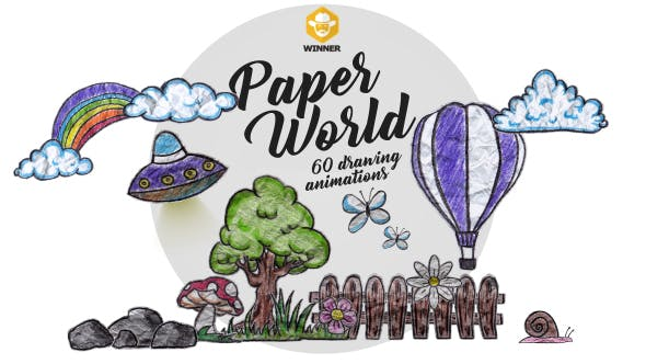 Videohive 11042907 - Paper World (Over 60 Drawing Animations) - Motion Graphics - Footage