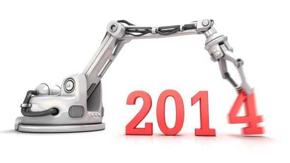 Videohive 6423072 - High Technology New Year 3d Animation - Motion Graphic - Footage