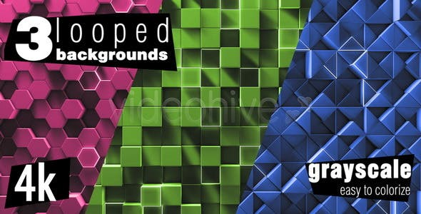 Videohive 12100317 - Simple Geometry Background Pack - Motion Graphic - Footage