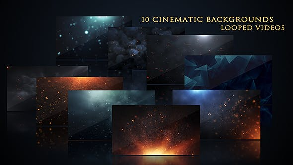 Videohive 17444843 - Cinematic Background Pack - Motion Graphics - Footage