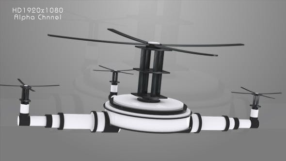 Videohive 10245777 - Television - Drone Animation - Motion Graphic - Footage