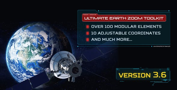 Videohive 10354880 - Earth Zoom - Motion Graphic - Footage